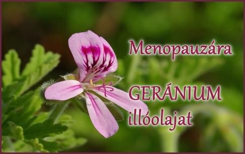 Menopauza, klimax… Segít a geránium!